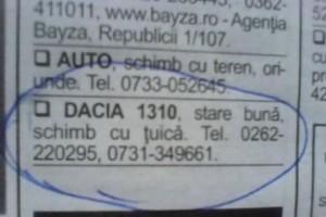 tuica vs dacia 1310