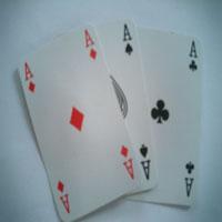 doua carti de poker - as de romb si trefla