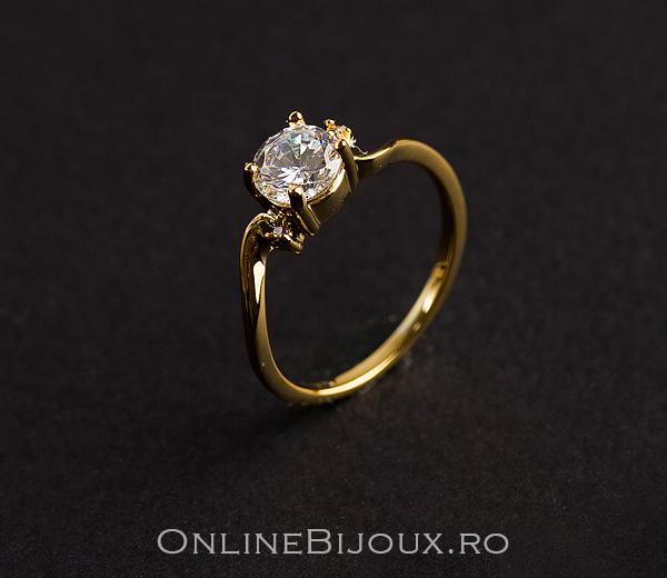 inel bijuterie placata cu aur
